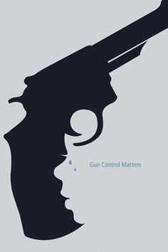 The purpose of this assignment was to design a poster, either for or against gun control, that raises awareness for the side you take. While looking at guns, I noticed that the handle of some revolvers started to look like the profile silhouette of a person or child. I exaggerated this small resemblence to represent a child crying. The person shot is not the only one affected
