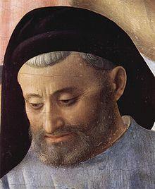 Michelozzo di Bartolomeo Michelozzi , schilderij van Fra Angelico, 1437-1440, tempera op hout