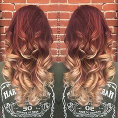 Copper to Blonde Ombre Hair