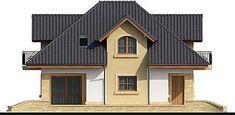 Elewacja lewa projektu Solon Good House, Pool Designs, House Plans, Villa, House Design, Cabin, Mansions, Architecture, House Styles
