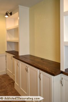 DIY built-in cabinets and bookcase wall - finished 4