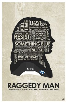 Raggedy Man: I remember you and you are late for my wedding. Amy Pond quote.