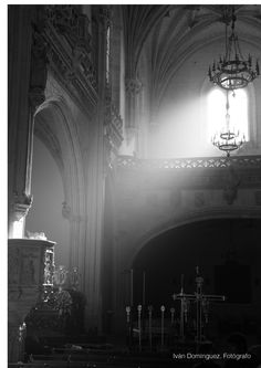 """""""Light of passion"""" --  Holly Wednesday. San Juan de los Reyes. Toledo. Preparations of the evening religious procession. The light could be felt inside the naves of the church."""