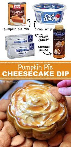 Pumpkin Pie Cheesecake, Easy Pumpkin Pie, Pumpkin Dessert, Pumpkin Recipes, Pumpkin Carving, Caramel Cheesecake, Easy Pie, Pumpkin Spice, Pumpkin Cream Cheese Dip
