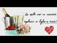 La multi ani! Felicitare muzicala si animata Happy Birthday Images, Happy B Day, Wine Glass, Place Card Holders, Tableware, Handmade, Easter, Facebook, Crochet