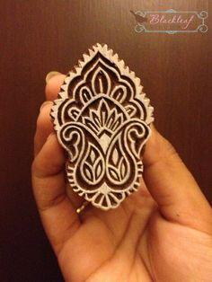 Wood Block Printing Hand Carved Indian Wood by BlackleafArt, $12.50