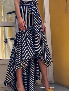 New Me Stripe Mermaid Skirt - UnikWe Boutique High Low Skirt, High Waisted Skirt, Fishtail Skirt, Mermaid Skirt, Asymmetrical Skirt, Stripe Skirt, Striped Skirt Outfit, Cute Skirts, Mode Inspiration