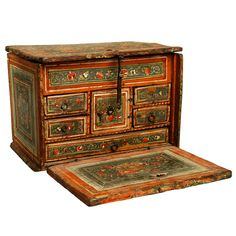 Made in Mexico....Extremely Fine and Rare 18th Century Spanish Colonial Papelera