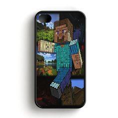 Minecraft Steve Typograpghy iPhone 4|4S Case