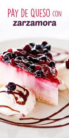 Con esta receta puedes preparar un delicioso Pay de Queso con Zarzamora, puedes cambiar la mermelada de Zarzamora por la del sabor de tu gusto y acompañarlo con Frutas frescas o en Almíbar.