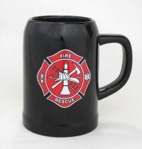 Black Fire Rescue Ceramic Mug Firefighter Home Decor, Firefighter Gifts, Volunteer Firefighter, Firefighters, Emt Uniform, Sheriff Badge, Volunteer Fire Department, Fire Prevention, Fire Equipment