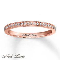 Diamond Ring 1/6 ct tw Round-cut 14K Rose Gold, Kay Jewelers