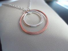 SALE Copper and Silver Karma Necklace  by weddingbellsdesigns, $16.99