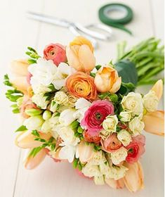 Blended flower bouquet