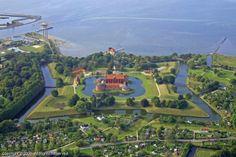 Landskrona with the citadel by the Öresund sound