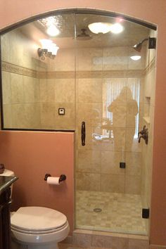 1000 images about small bathroom on pinterest small bathrooms frameless shower enclosures for Small shower enclosures for small bathrooms