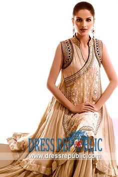 Wrapover Abrielle, Product code: DR9717, by www.dressrepublic.com - Keywords: Angrakha 2013 Collection, Latest Angrakha Style Frocks, Designer Angrakha Shalwar Kameez 2013