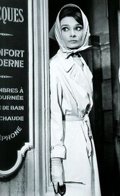 Charade again. Hepburn's costumes in this film = flawless.