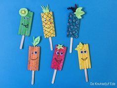 Popsicle Stick Crafts For Kids, Popsicle Sticks, Craft Stick Crafts, Toddler Crafts, Diy Crafts For Kids, Lily Ellis, Fruit Crafts, Lotus Painting, Curious Kids