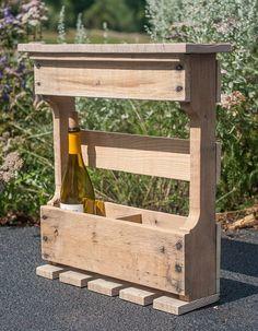 Pallet Wine Rack - Reclaimed Wood Wine Rack - Rustic Wine Rack - Wood Wine Rack - Wine Rack - Pallet Furniture - Wall Wine Rack by byDadandDaughter on Etsy https://www.etsy.com/listing/200168682/pallet-wine-rack-reclaimed-wood-wine