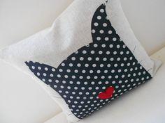 Spotty Cat Applique Cushion £24.50