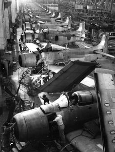 View of the AD Skyraider production line at the Douglas Aircraft Company in El Segundo, California, on February 6, 1951, sixty-three years ago today. With the outbreak of the war in Korea just month later, many of these aircraft were destined to fly combat missions in the Far East.