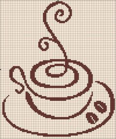 Free coffee cross stitch pattern #stitching