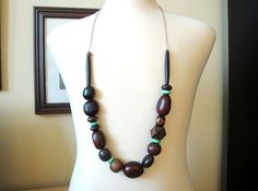 Chunky Bead Necklace Ideas | chunky wooden bead necklace