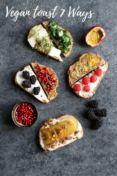 Vegan Toast 7 Ways without Avocado