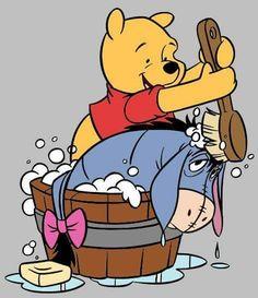 Winnie The Pooh and Eeyore Winnie The Pooh Drawing, Cute Winnie The Pooh, Winnie The Pooh Quotes, Winnie The Pooh Friends, Eeyore Pictures, Winnie The Pooh Pictures, Cute Disney, Baby Disney, Winie The Pooh