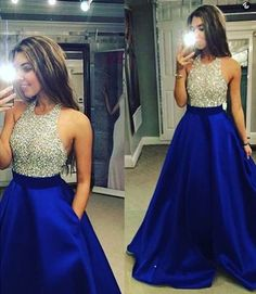 Charming Prom Dress Royal Blue Prom Dress Halter Sexy Prom Dress Beading Prom Dresses Long Evening Dress, Shop plus-sized prom dresses for curvy figures and plus-size party dresses. Ball gowns for prom in plus sizes and short plus-sized prom dresses for Royal Blue Prom Dresses, Prom Dresses 2016, Backless Prom Dresses, A Line Prom Dresses, Prom Gowns, Long Dresses, Sexy Dresses, Prom 2016, Pageant Dresses