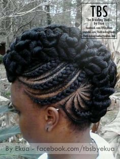 Cornrow Updo Styles, African Braids Hairstyles, Braid Styles, Girl Hairstyles, Braided Hairstyles, Flat Twist Updo, Solange, Black Girl Braids, Natural Hair Updo