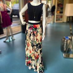 brighten up any rainy day with this gorgeous floral maxi skirt #springstyle #minkpink #charliejade #shoppoppy