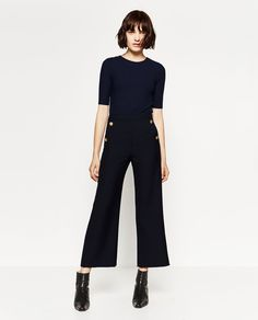 Image 1 of BUTTONED T-SHIRT from Zara