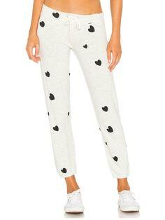 2535d98c8354b4 MONROW Natural Scattered Hearts Vintage Sweatpant Drawstring Waist, Luxury  Lifestyle, Pajama Pants, Sweatpants