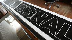 door decal, block letters, for Signal creative studio, Northbank, Melbourne http://decentlyexposed.com.au/taylormadesigns/?p=5578=true#