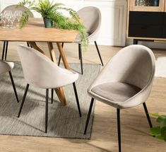 Chaise Velour, Chaise Design Pas Cher, Chaise Haute Design, Google Shopping, Chamois, Dining Chairs, Design Inspiration, House, Dining Rooms