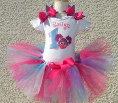 Abby Cadabby Birthday Girls Tutu Outfit Set