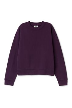 Weekday image 16 of Huge Cropped Sweatshirt in Purple Dark