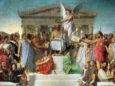 Jean-Auguste Dominique Ingres (1780-1867)  The Apotheosis of Homer, 1827  Olio su tela, 386 x 512 cm Musée du Louvre
