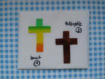 Wachsmotiv elegantes kleines Kreuz (N)