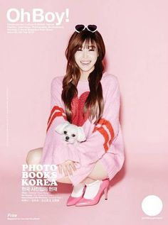 Tiffany proves her 'Pink Monster' moniker in BTS cuts for 'Oh Boy!' photoshoot | http://www.allkpop.com/article/2015/01/tiffany-proves-her-pink-monster-moniker-in-bts-cuts-for-oh-boy-photoshoot