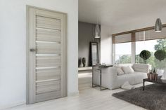 Drzwi ARCO ALU w kolorze dębu skandynawskiego W Hotel, Accra, Model Homes, Divider, Room, Modern, House, Furniture, Home Decor