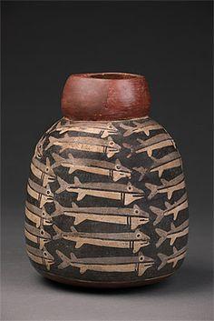 NAZCA culture South coast 100 – 700 AD Vessel depicting fish 100-700 AD ceramic  22.2 (h) cm 17.5 cm (diameter) Ministerio de Cultura del Perú: Museo Nacional de Arqueología, Antropología e Historia del Perú,