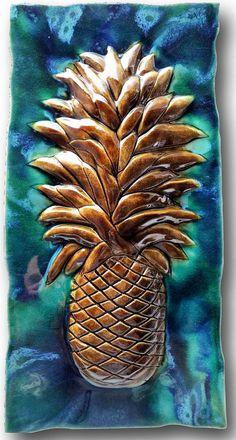 "Pool Tile Pineapple Design 8.5""x17.5"" MP32"