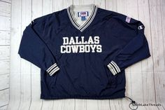 dc1035bdd82 Vintage 90s Dallas Cowboys Champion Windbreaker Pullover