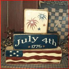Unusual Wood Crafts Ideas For Of July Independence Day 33 Americana Crafts, Patriotic Crafts, July Crafts, Patriotic Flags, Patriotic Wreath, Fourth Of July Decor, 4th Of July Decorations, 4th Of July Party, Wood Decorations