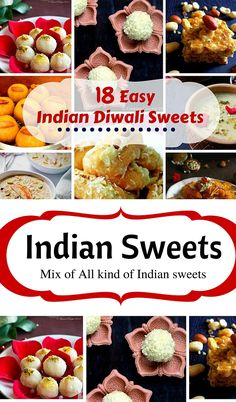18 Easy Indian Diwali Sweets: #diwali #indiansweets #dessert #recipes #indian