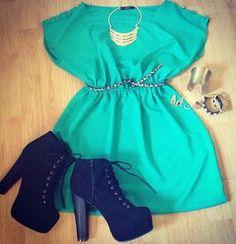 Dress + boots