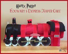 Harry Potter Hogwart's Express Diaper Cake Tutorial